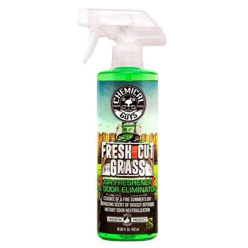 CHEMICAL GUYS FRESH CUT GRASS SCENT PREMIUM AIR FRESHENER AND ODOR ELIMINATOR 473ML
