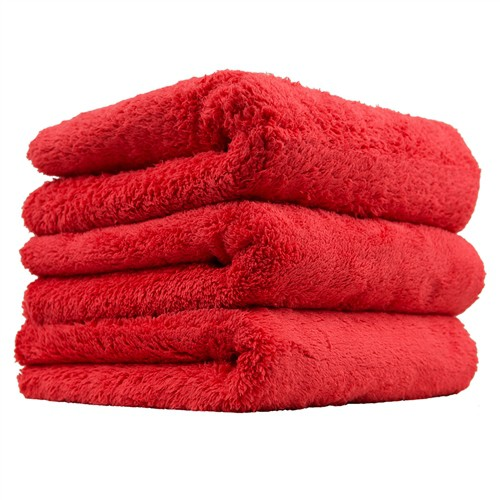 CHEMICAL GUYS HAPPY ENDING EDGELESS MICROFIBER TOWEL, RED, 40X40CM
