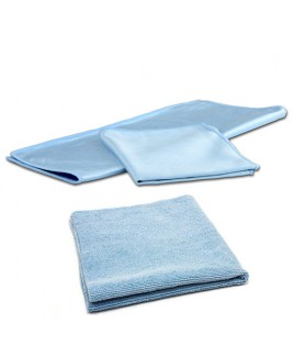 THE RAG COMPANY - PREMIUM MICROFIBER GLASS TOWEL + EDGELESS 300 GSM MICROFIBER TOWEL
