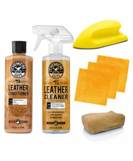 CHEMICAL GUYS LEATHER CLEANER & CONDITIONER KIT INCL. ACCESSOIRES