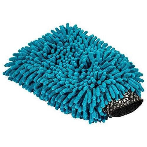 ELITE DELUXE SUPER PREMIUM CHENILLE MICROFIBER WASH MITT - BLUE / BLAUW