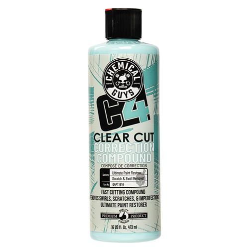 CHEMICAL GUYS C4 CLEAR CUT CORRECTION COMPOUND POLIJSTMIDDEL 473ML