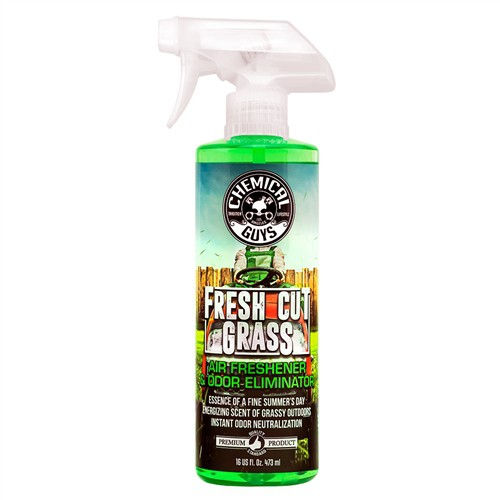 CHEMICAL GUYS FRESH CUT GRASS SCENT PREMIUM AIR FRESHENER AND ODOR ELIMINATOR 473ML