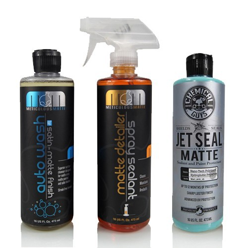 CHEMICAL GUYS COMPLETE MATTE KIT SHAMPOO SPRAY DETAILER EN LAKVERZEGELING (3 ITEMS)