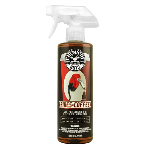 CHEMICAL GUYS RIDES & COFFEE AIR FRESHENER AND ODOR ELIMINATOR 473ML/16OZ