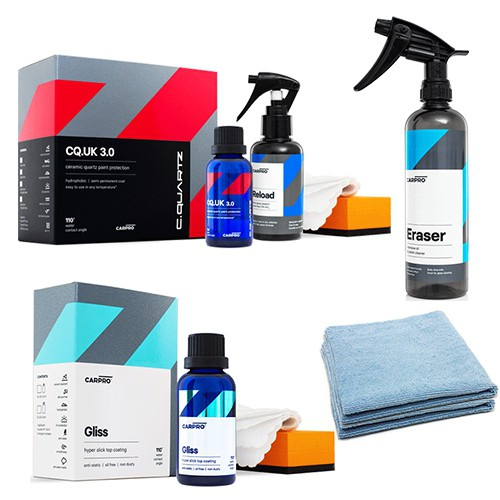 CARPRO CQUARTZ COATING KIT - CQ UK 3.0 + GLISS V2