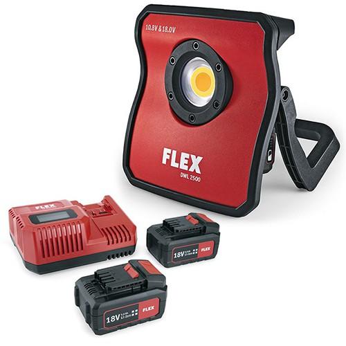FLEX DWL 2500 10.8/18.0 FULL SPECTRUM ACCU LED LAMP 10.8V / 18.0V INCL. SNELLADER EN 2 ACCU'S