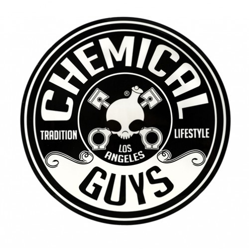 "CHEMICAL GUYS LOGO STICKER, CIRKEL (8"" / 203MM)"