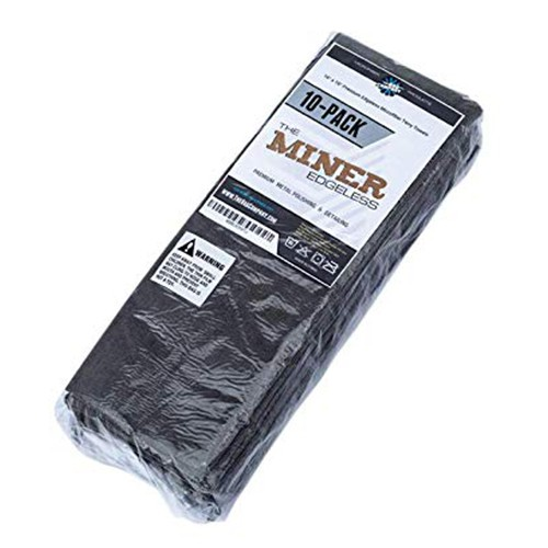 THE RAG COMPANY - EDGELESS 365 PREMIUM MICROFIBER TOWELS - THE MINER - 10 PACK