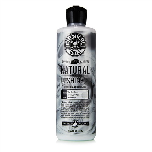 CHEMICAL GUYS NATURAL SHINE INTERIOR-EXTERIOR PROTECTANT DRESSING 473ML