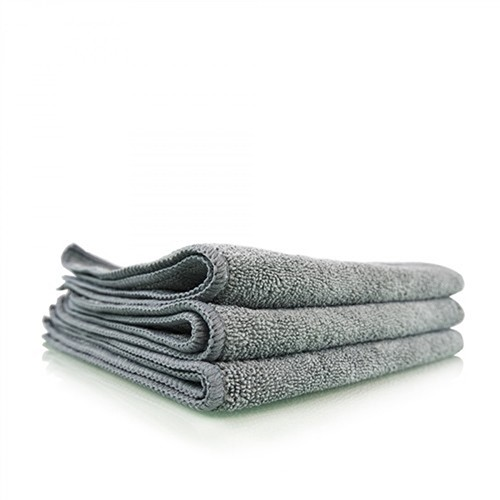 CHEMICAL GUYS WORKHORSE GREY PROFESSIONAL MICROFIBER TOWEL, 40 X 40 CM (METALS & WHEELS)